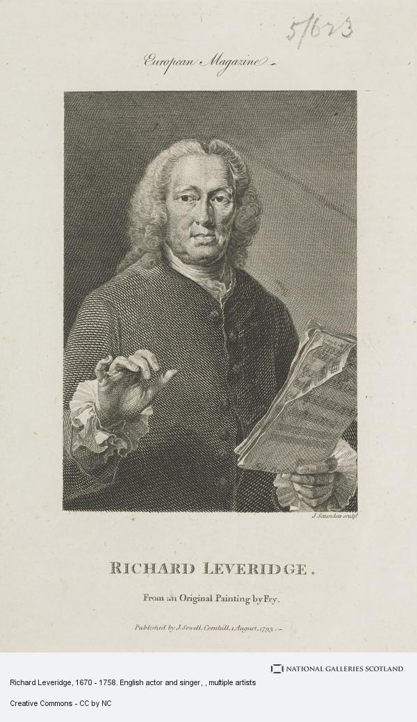 Image of: Symbols J Saunders Richard Leveridge 1670 1758 English Actor And Singer National Galleries Of Scotland Richard Leveridge 1670 1758 English Actor And Singer National