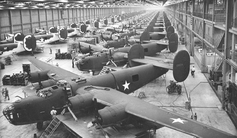 Why America Was Indispensable to the Allies  Winning World War II     Arsenal of Democracy  B 24 Liberator plant in Fort Worth  Texas   U S  Air  Force