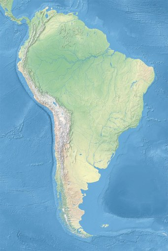Political Map of South America  1200 px    Nations Online Project Topographic Map of South America