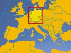 Federal Republic of Germany   Country Profile   Nations Online Project Location map of Germany  Germany in Europe