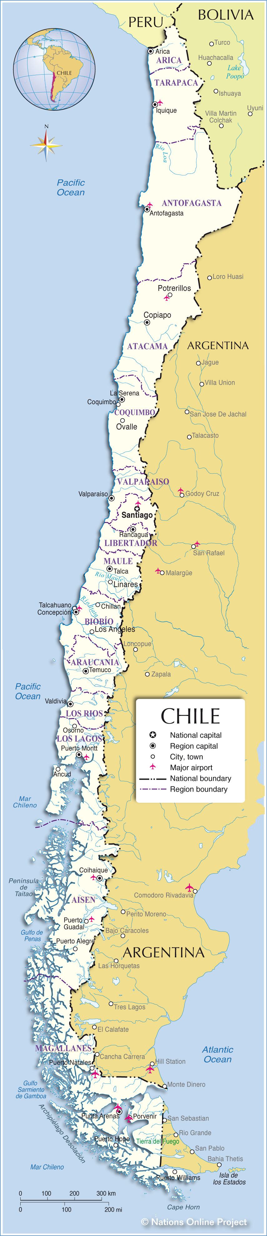 Maps Country Colombia Key Map
