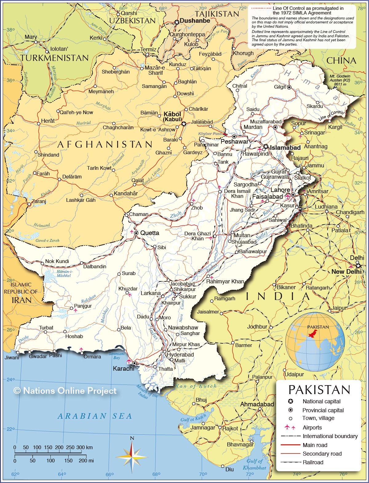 Map Of Pakistan Provinces