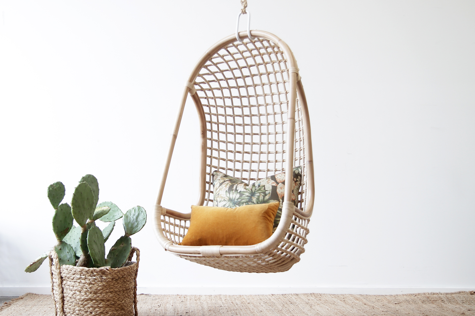 Natural Hanging Chair In Stock Naturally Cane Rattan