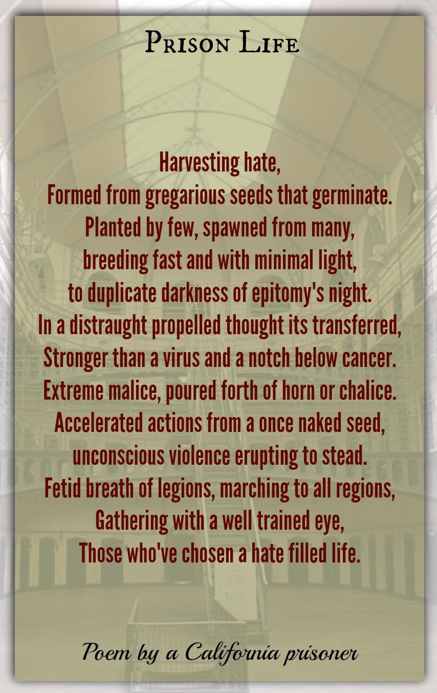 Prison Life California Prisoner Words Of Understanding