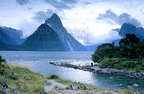 Mitre Peak 1683m From Cemetery Point Bowen River In
