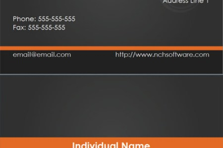 Free Business Card Templates for CardWorks Business Card Maker Download      Black business card template