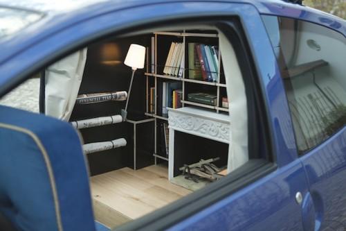 A Cozy Study Inside A Subcompact Car Neatorama