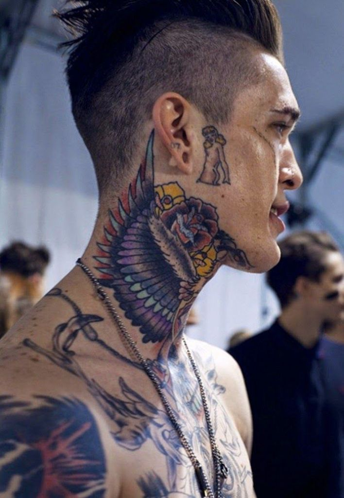 Justin Bieber Neck Tattoo Wings