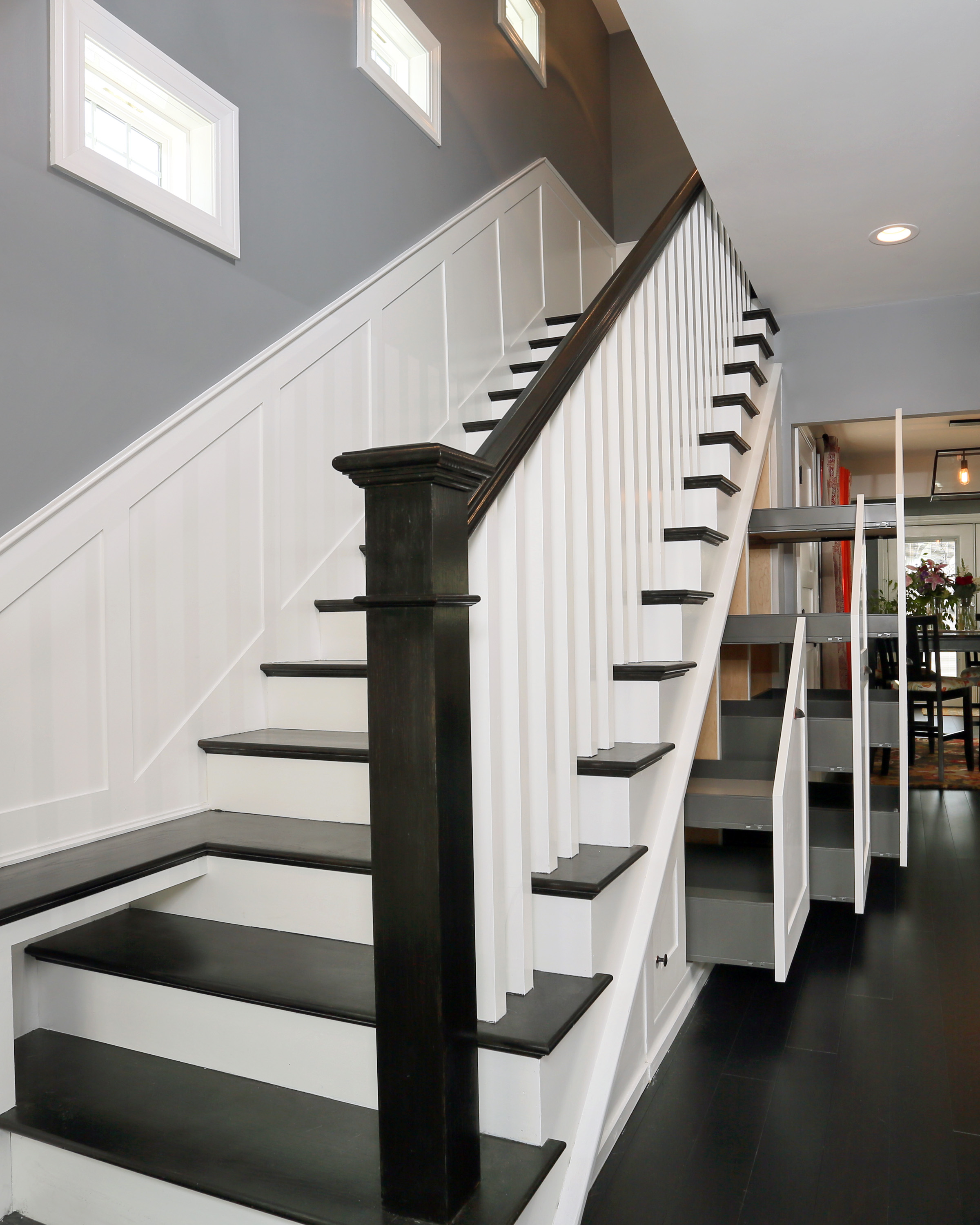 Custom Entry Bench And Stair New England Design
