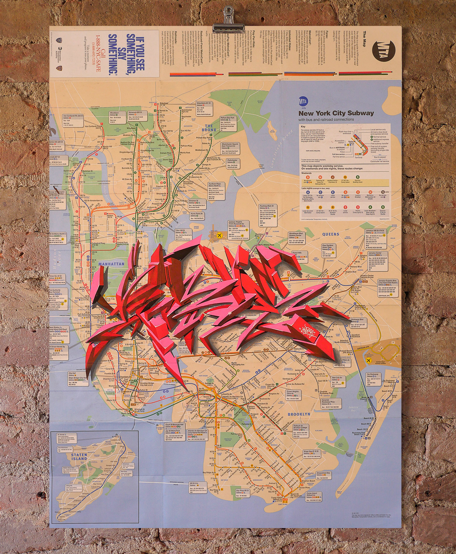NYC Subway Map   Wildstyle by Serve   Nelly Duff NYC Subway Map     Wildstyle by Serve   For sale at Nelly Duff