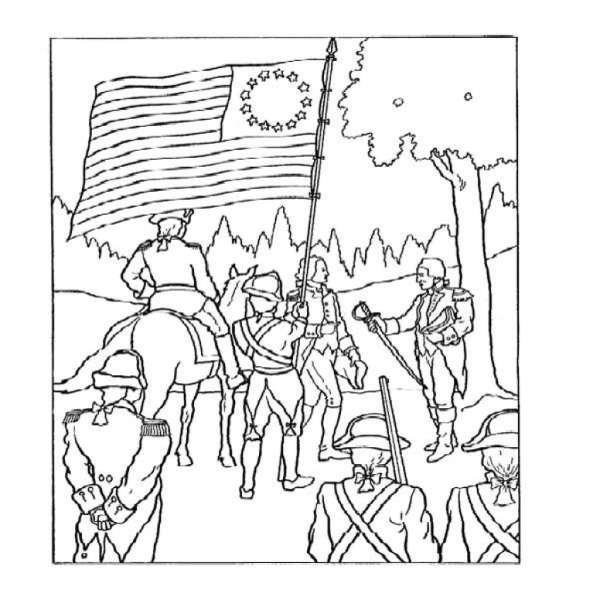 american revolution coloring pages # 27