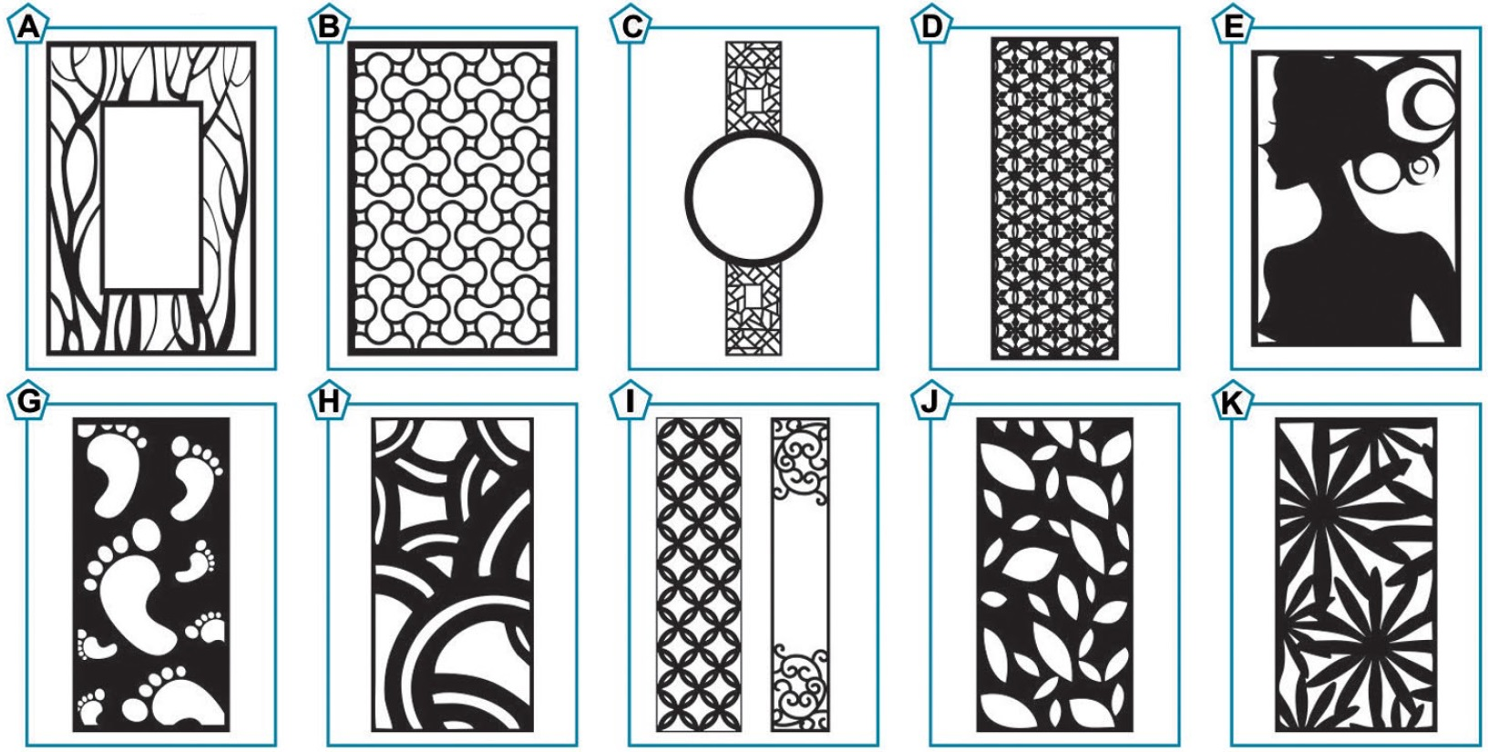 Cnc Designs जालि डिजाइनहरू For Room Partitions