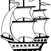 christopher columbus ships coloring pages mayflower ship
