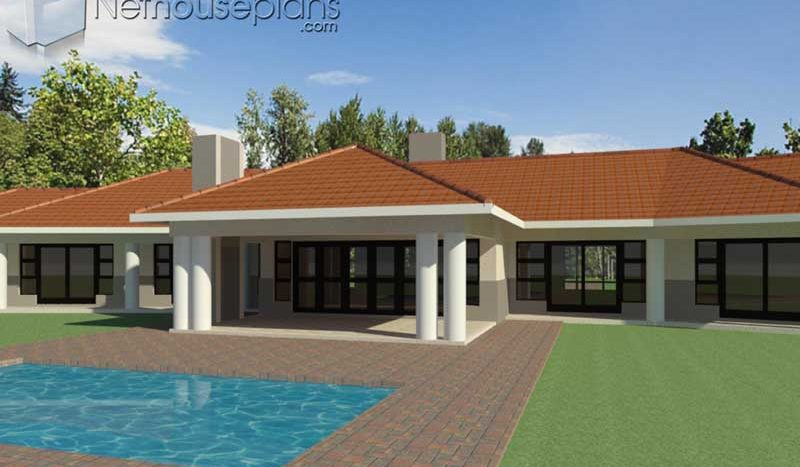 South African House Design Style | 4 Bedroom Floor Plan ...