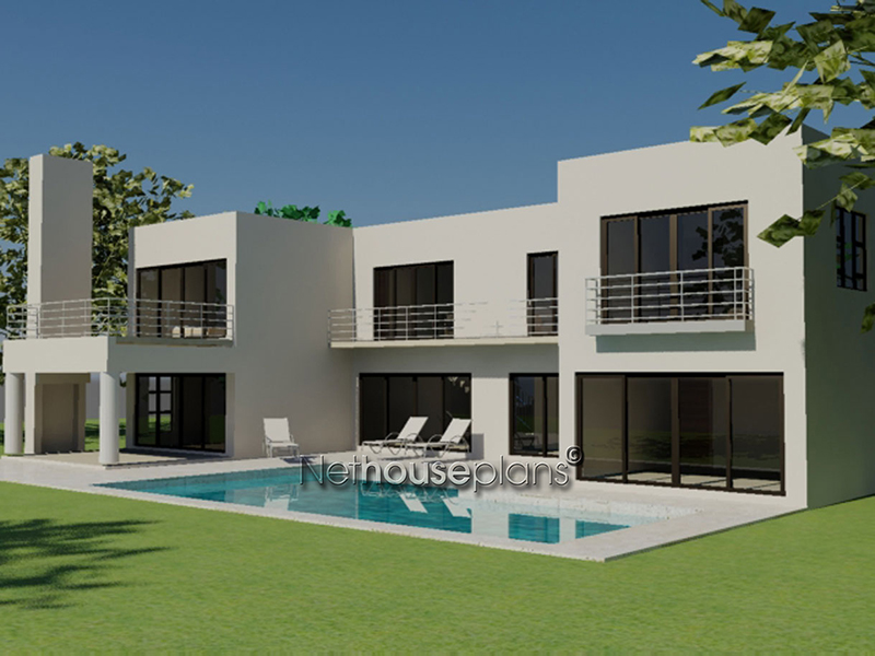 Double Storey House Plan South African|4 Bedroom House ...