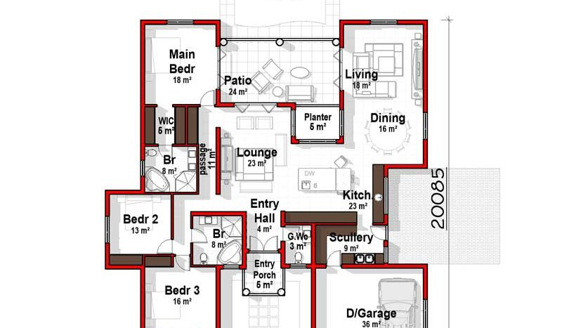 House Floor Plans 270sqm 3 Bedroom House Floor Plan ...