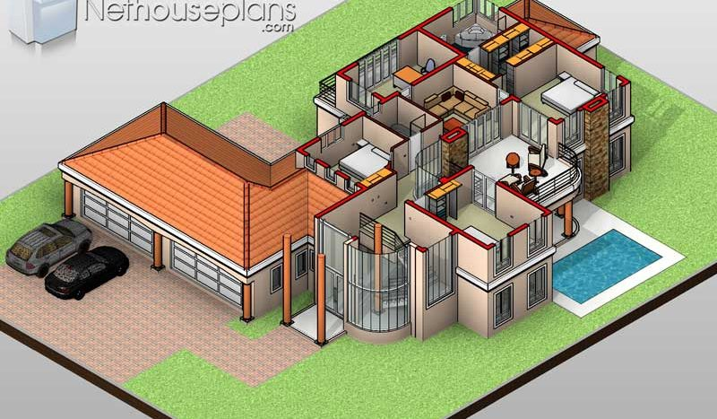 A Double Storey 5 Bedroom Home Designs   Net House Plans ...