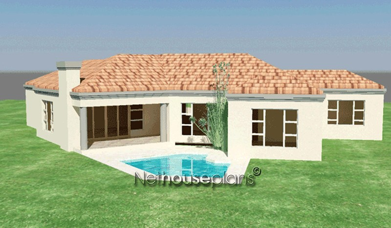 3 bedroom Tuscan home design Modern tuscan style house plan, 3 bedroom , single storey floor plans, 3 bedroom tuscan home design