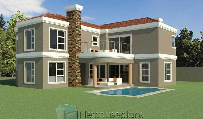 3 Bedroom Double Storey House Plan South Africa Nethouseplansnethouseplans