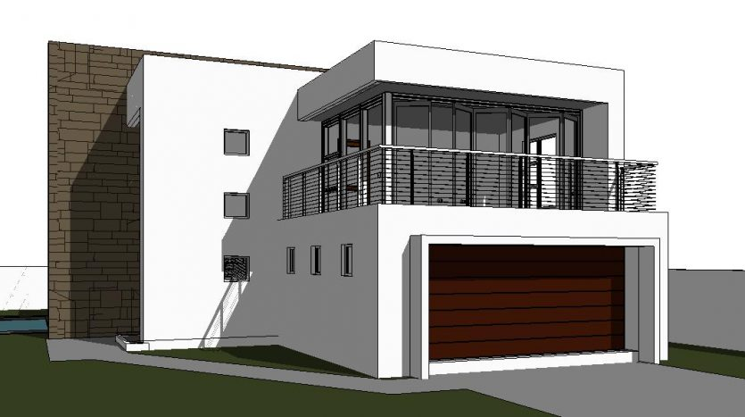 modern 2 storey house design, modern double storey house plan design, contemporary floor plan, modern house a with balcony, contemporary house plan in south africa, house plan with photos, Nethouseplans, Fourways