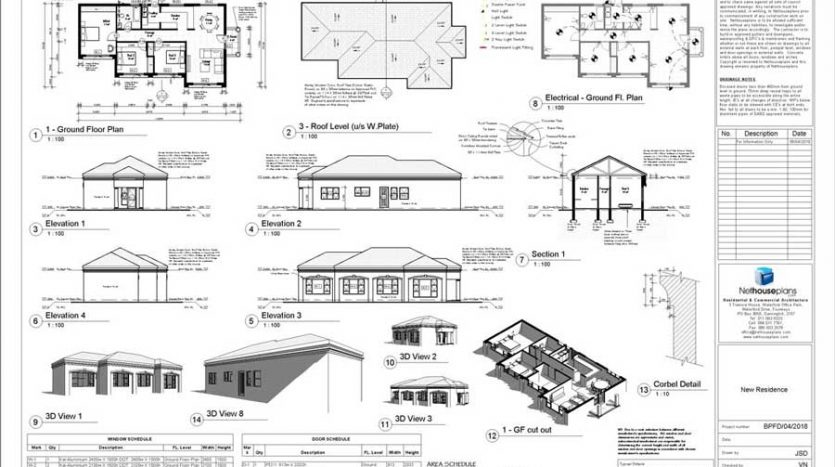 South African House Design, Single storey house plan, one storey house design with photos, house plans with a double garage, Nethouseplans