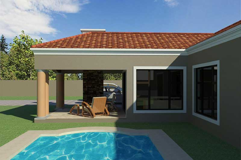 single storey house plans designs with swimming pool Nethouseplans