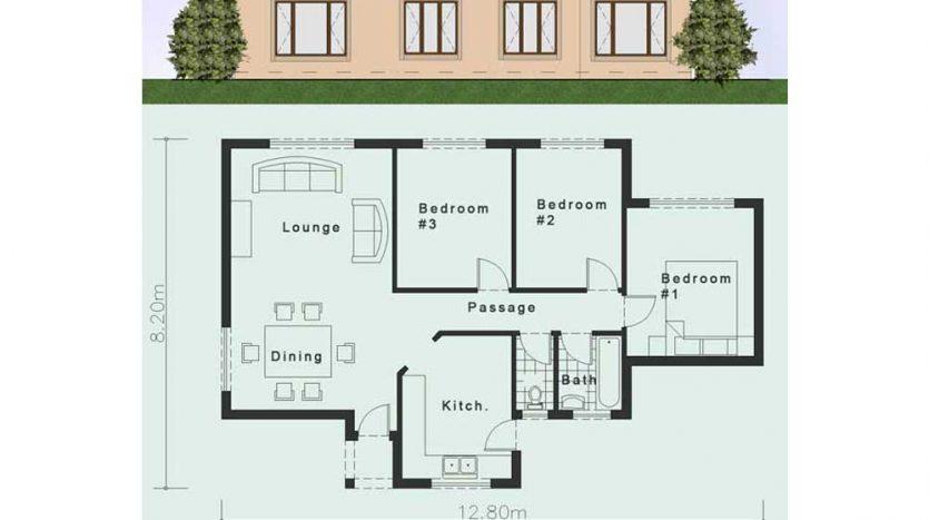 Three Bedroom House Plans In Uganda - House Design Ideas