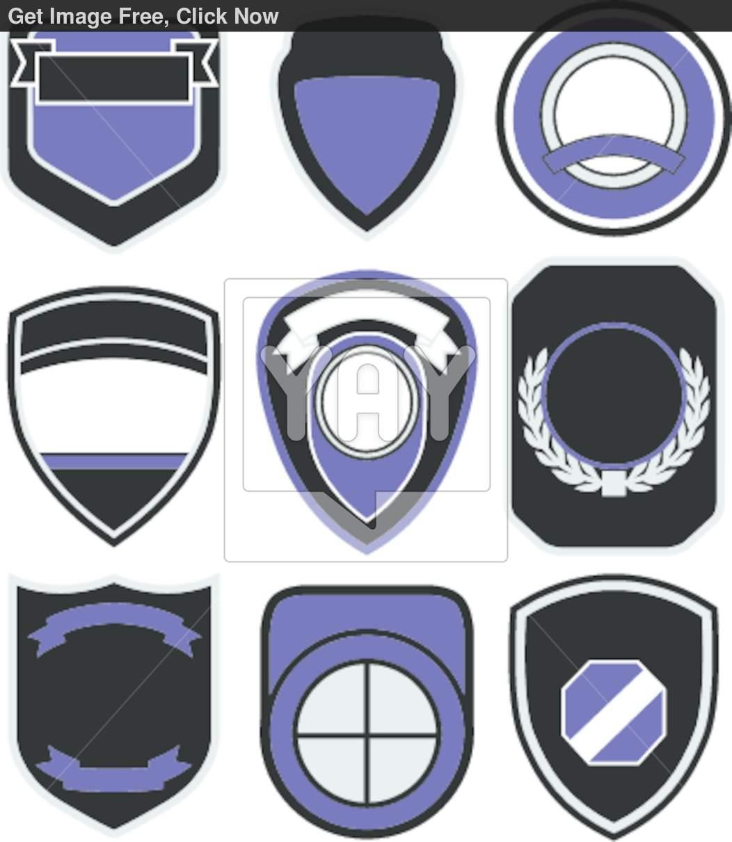 Blank Badge Template Police