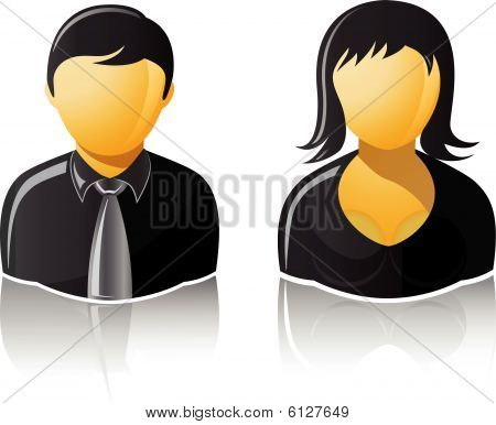 10 Boss Man Woman Icon Images Boss Black Person Icon