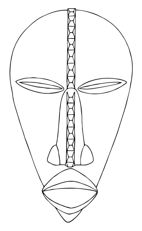 Mask Print African Outs