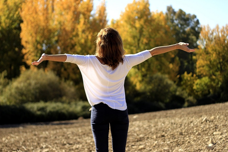 Tips To Increase Self-Control Woman Standing with Her Arms Out