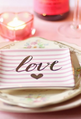Valentine's Day Side Dishes A Table Setting That Says Love