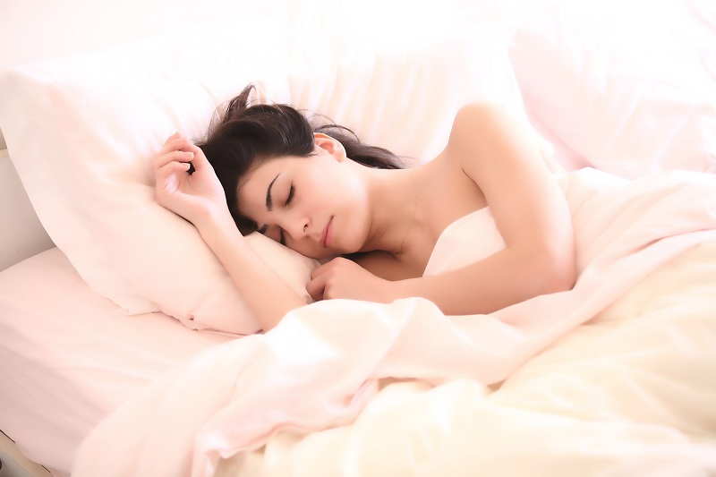 Herbalife Stress Management Products Woman in Bed Sleeping