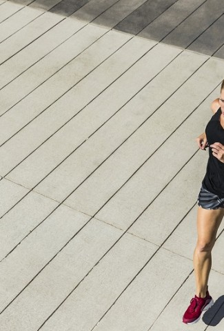 Herbalife24 Products Overhead View of a Woman Running