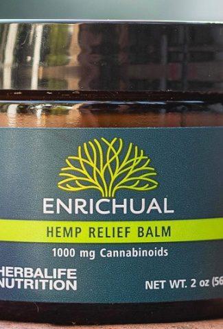 Close Up of Herbalife Enrichual Hemp Relief Balm