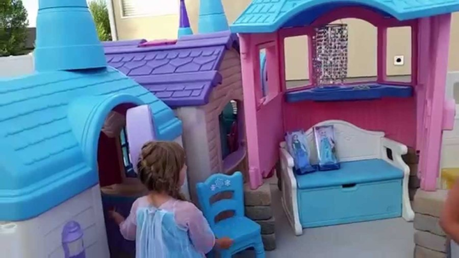 Feber Disney Princess Outdoor Castle Playhouse   Outdoor Designs Kids Outdoor Play Castle Designs