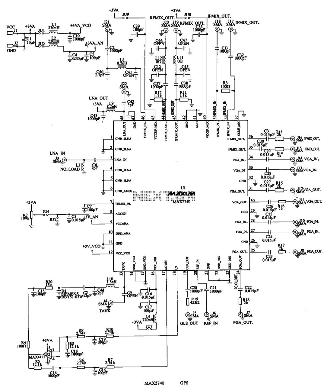 Gps circuit rf circuits nextgr f3397tu3978397e397 gps circuits diagram description gps support kit diagram description gps support kit