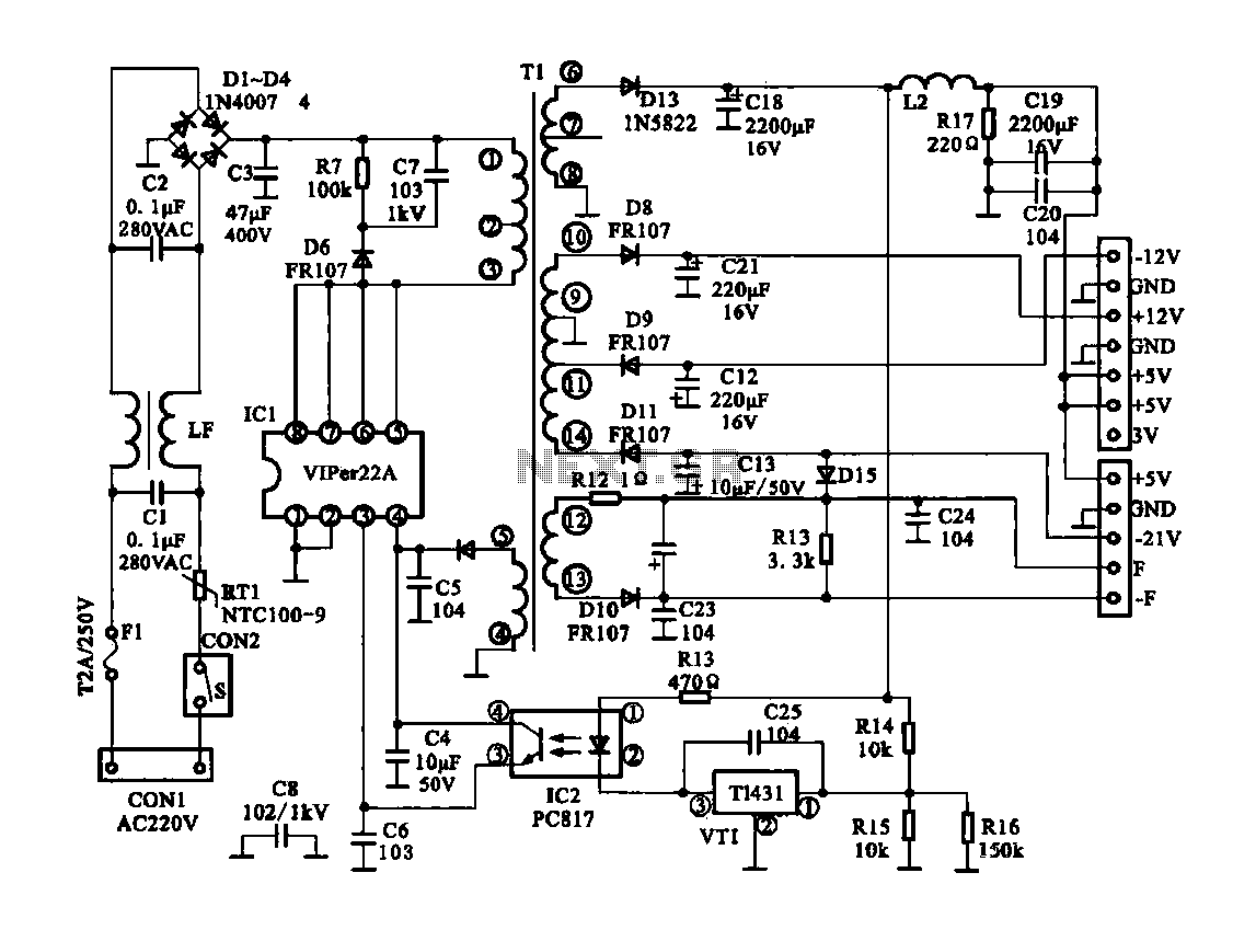Simple power supply circuits for visio mockup ex le of a time line