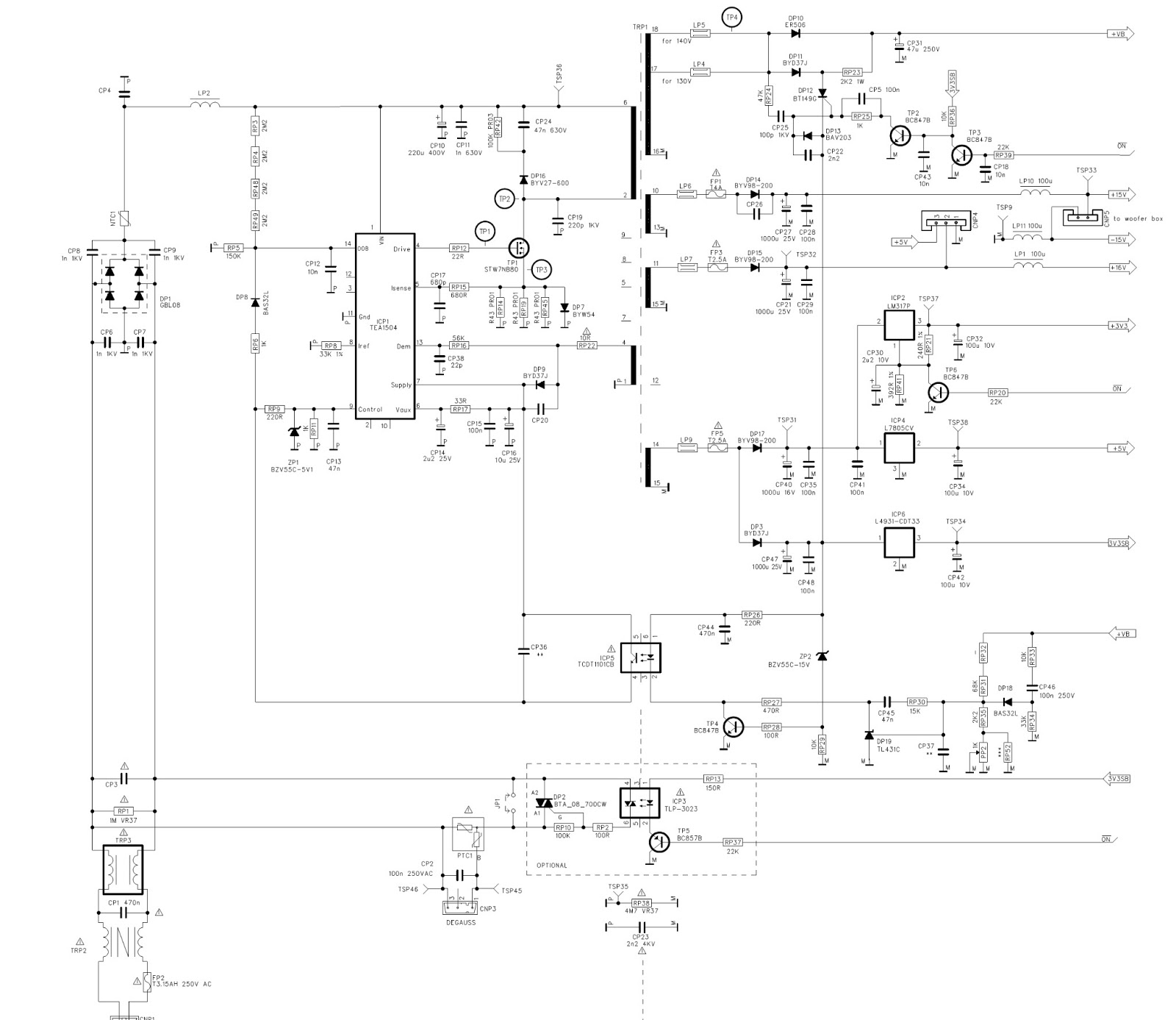Circuits > smps power supply schematic diagram l26252 next gr