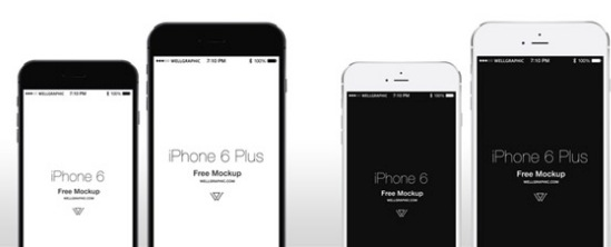 Mockup   Wireframe Templates for iPhone 6 and Apple Watch     Media     iphone6 templates apple watch templates