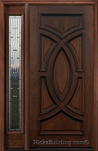 Exterior Entry Doors With 1 Sidelight Solid Mahogany