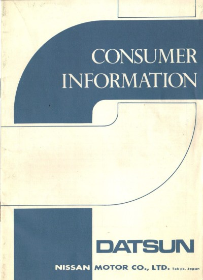 Datsun Emissions and Warranty Information Documents - NICOclub