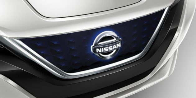 2019 Nissan LEAF Accessories   Parts   Nissan USA Nissan LEAF Accessory Illuminated Grille Emblem