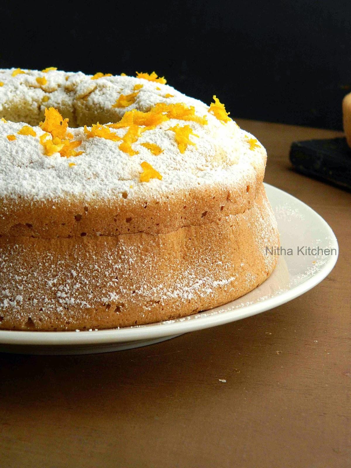 Orange Glow Chiffon Cake Orange Sponge Cake Recipe
