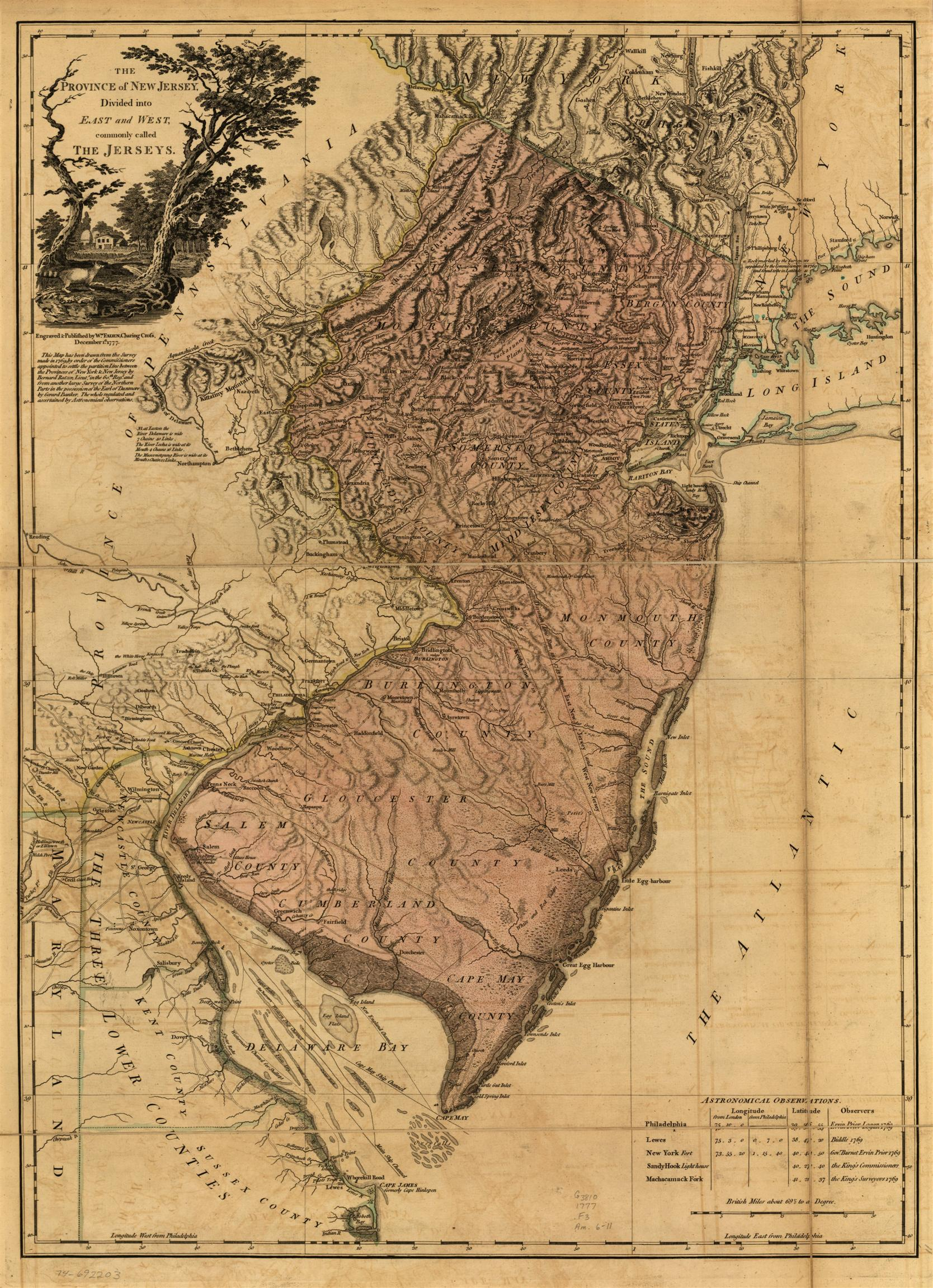 Map New Jersey Towns