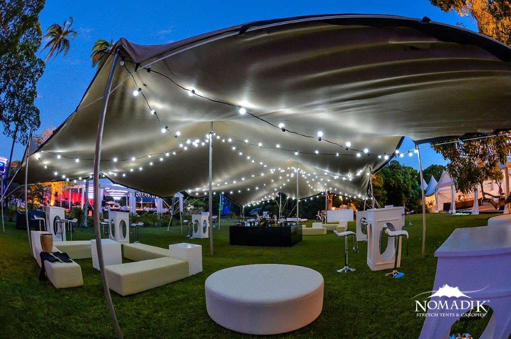 Blue And White Wedding Reception