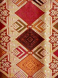 Laotian Silk And Cotton Textile Laos Weaving Cloth Fabric