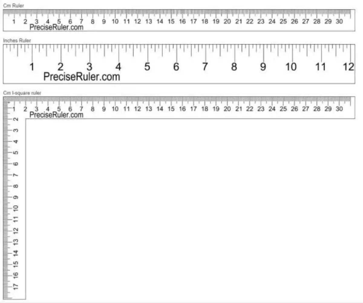 Screen Actual Ruler Size