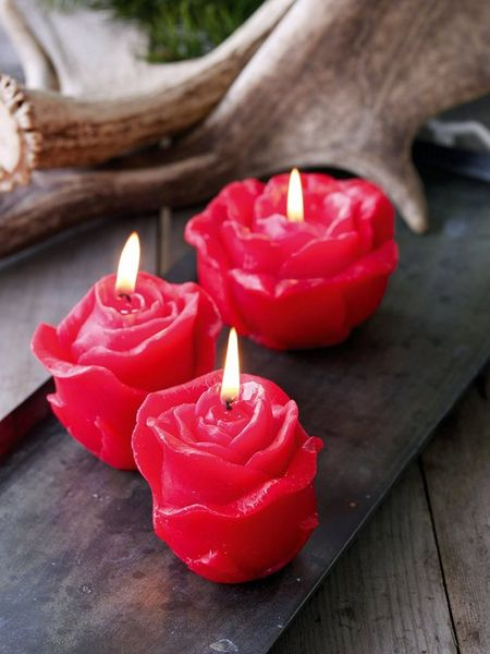 Red Rose Candles Nordic House