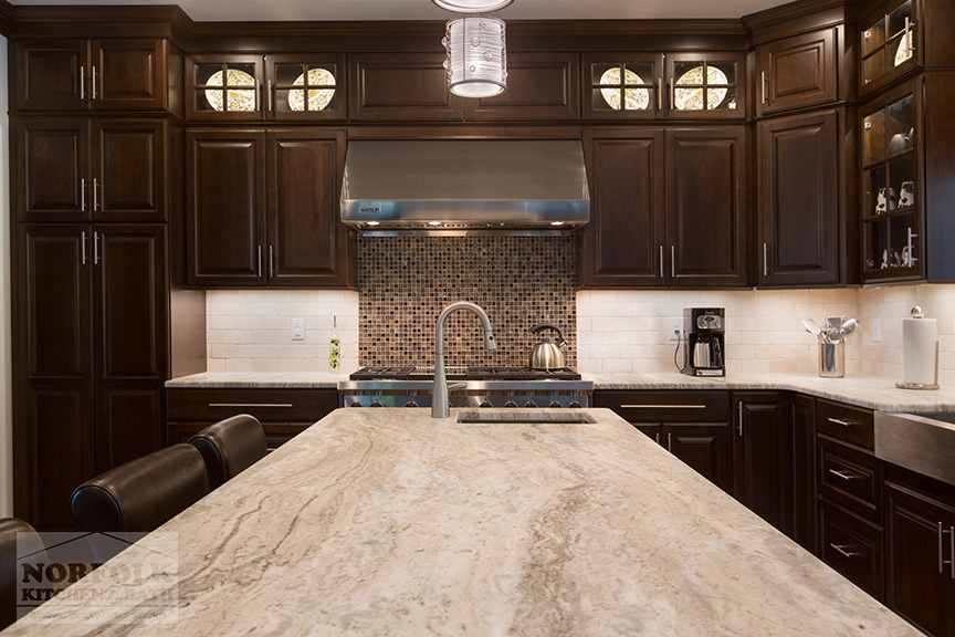 New Cherry Kitchen Remodel With Coffee Finish